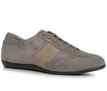 Herren Schuhe Sneaker Veloursrindleder grau