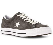 Schuhe Sneaker Leder dunkel