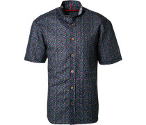Kurzarmhemd, Classic Fit, Leinen-Baumwolle