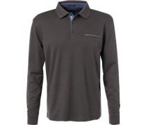 Herren Polo-Shirt, Baumwolle, braun