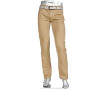 Herren Jeans Regular Slim Fit Baumwoll-Stretch sand