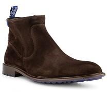 Schuhe Stiefeletten, Veloursleder warmgefüttert