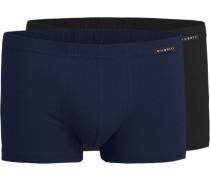 Herren Unterwäsche Trunks, Baumwolle, navy blau