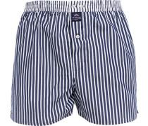 Herren Unterwäsche Boxershorts, Baumwolle, marine-weiß gestreift blau