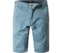 Herren Hose Shorts Straight Fit Baumwolle hellblau