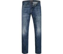 Herren Jeans Slim Fit Baumwoll-Stretch denim