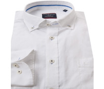 Herren Hemd, Comfort Fit, Oxford, weiß