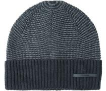 Herren   Mütze Baumwoll-Mix schwarz-grau gemustert grau,schwarz