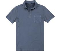 Herren Polo-Shirt, Baumwolle, taubenblau