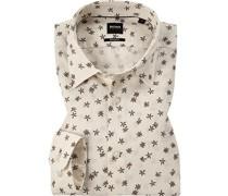 Hemd, Regular Fit, Leinen-Baumwolle