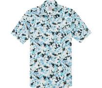 Kurzarmhemd Modern Fit Baumwolle  gemustert