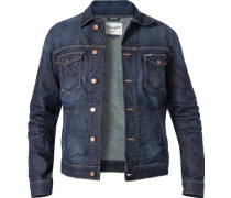 Herren Jeansjacke, Regular Fit, Baumwolle, denim blau