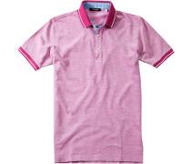 Herren Polo-Shirt Slim Fit Baumwoll-Piqué pink rosa