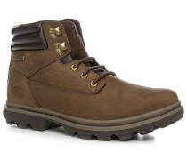 Herren Schuhe Schnürstiefeletten Leder braun