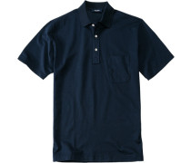 Herren Polo-Shirt Baumwoll-Piqué tiefseeblau