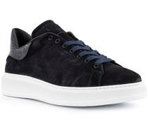 Schuhe Sneaker, Veloursleder, blu