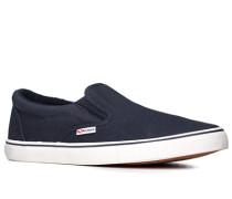 Herren Schuhe Slipper Canvas navy