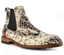Schuhe Chelsea Boots, Kalbleder-Ponyfell