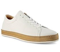 Schuhe Sneaker Leder bianco