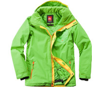 Herren Snowboard-Jacke Regular Fit Microfaser isolierend leuchtgrün grün,grün
