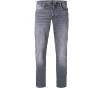 Jeans Slim Fit Baumwoll-Stretch hell