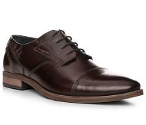 Herren Schuhe Derby, Leder, dunkelbraun