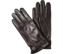 Herren ROECKL Handschuhe Leder mittelbraun