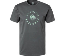 T-Shirt, Regular Fit, Bio-Baumwolle, dunkel