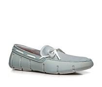 Herren Schuhe Loafers Mesh-Kautschuk-Mix eisblau blau,weiß