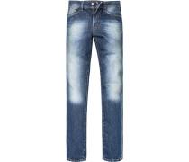 Herren Jeans, Regular Fit, Baumwoll-Denim, denim blau