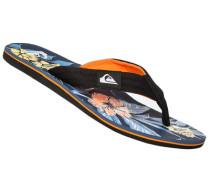 Herren Schuhe Zehensandalen, Gummi, multicolor gemustert
