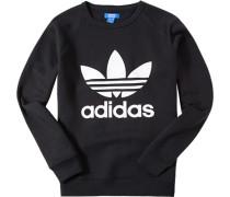 Herren Sweatshirt Baumwoll-Mix schwarz mit Motiv