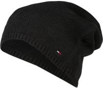 Herren   Beanie Woll-Mix schwarz