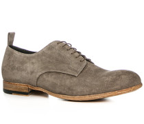 Herren Schuhe Derby Veloursleder beige grau,beige,rot