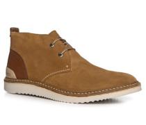 Herren Schuhe Desert Boots Veloursleder cognac