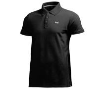 Herren Polo-Shirt Regular Fit Baumwoll-Piqué schwarz