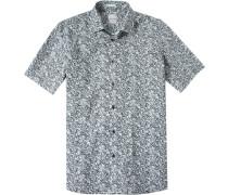 Herren Hemd Modern Fit Popeline grau gemustert