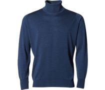 Herren Pullover Slim Fit Merino Extrafine indigo blau
