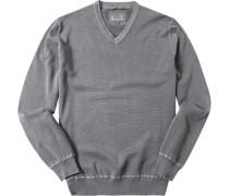 Herren Pullover Baumwolle grau