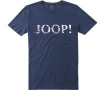 Herren T-Shirt Baumwolle marine blau