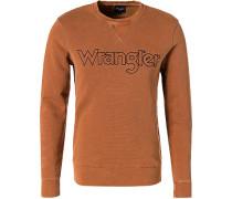 Herren Sweatshirt, Baumwolle, orange