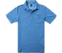 Herren Polo-Shirt Baumwoll-Jersey royal