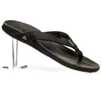 Herren Schuhe Zehensandalen Leder schwarz schwarz,braun
