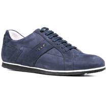 Herren Schuhe Sneaker Veloursleder navy weiß,blau