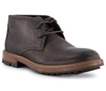 Schuhe Desert Boots, Leder wasserabweisend, dunkel