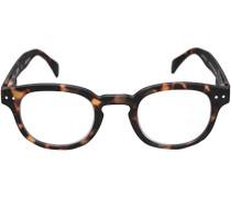 Herren Brillen Lesebrille C, Kunststoff, schwarz meliert