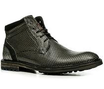 Herren Schuhe Stiefeletten Kalbleder grau gemustert
