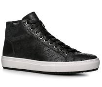 Herren Schuhe Sneaker Leder schwarz schwarz,braun