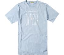 Herren T-Shirt Baumwolle hell gemustert