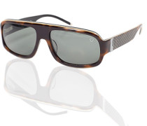 Herren Brillen Strellson Sonnenbrille Kunststoff dunkelbraun